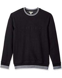 Calvin Klein - Crew Neck Sweatshirt Tonal Rib Tipping - Lyst