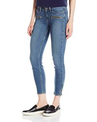 PAIGE - Jane Zip Crop Jeans With Caballo Inseam-jace No Whiskers - Lyst