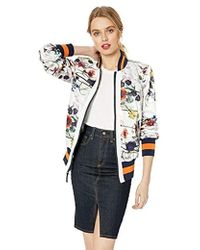 9128f9387a0b3 RACHEL Rachel Roy Duster Bomber Jacket in Black - Lyst