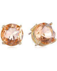 Jessica Simpson - Light Peach Stud Earrings - Lyst