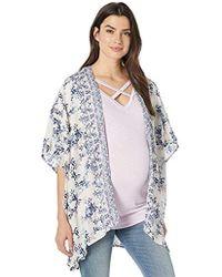 c704f78c Jessica Simpson - Maternity 3/4 Sleeve High/low Hem Bed Jacket Shirt -