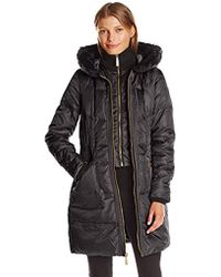 Vince Camuto - Mid Weight Down Coat - Lyst