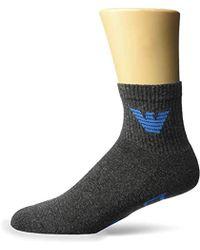 Emporio Armani - Sponge Cotton 2 Pack In-shoe Socks - Lyst
