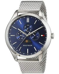 Tommy Hilfiger - 'oliver' Quartz Stainless Steel Casual Watch, Color:silver-toned (model: 1791302) - Lyst