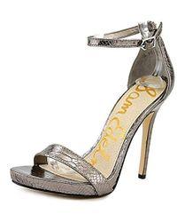 804c859148ae Lyst - Sam Edelman  eleanor  Ankle Strap Sandal (women) in Metallic