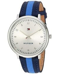 Tommy Hilfiger - Sport' Quartz Stainless Steel And Nylon Casual Watch, Color:blue (model: 1781767) - Lyst