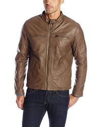 31479db2cc Cole Haan Leather Shirt Jacket for Men - Lyst