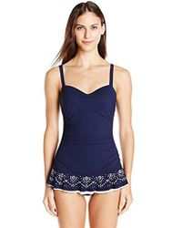 d1f20209744 Plus Size Tummy Control Swimdress. $168. Macy's · Gottex - D-cup Laser Cut  Swimdress One Piece Swimsuit - Lyst