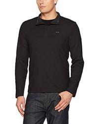 Calvin Klein - Long Sleeve Jacquard 1/4 Zip Knit - Lyst