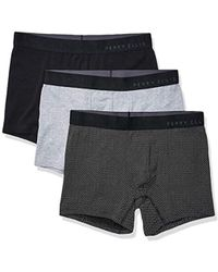 45ca1cbf5914 Perry Ellis Mens Stay Dry Comfort Chevron Design Crew Socks in Black for Men  - Lyst