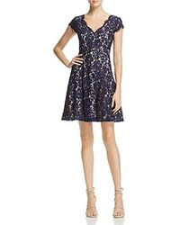 Eliza J - V-neck Fit & Flare Dress - Lyst