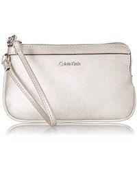 Calvin Klein - Saffiano Wristlet - Lyst