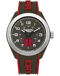 Superdry - 'navigator Military' Quartz Plastic And Silicone Casual Watch, Color:green (model: Syg214n) - Lyst