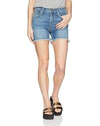 James Jeans - Mimi High Rise Frayed Shorts In Artisan - Lyst