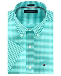913f43fd0124 Lyst - Tommy Hilfiger Men s Stover Check Short-sleeve Shirt in Blue ...