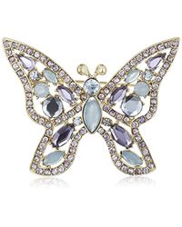 Napier - Giftables Boxed Silver-tone And Blue Purple Butterfly Pin - Lyst