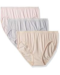 88f53c346af4 Lyst - Ellen Tracy 3 Pack Hi-cut Logo Micofiber Panties in White