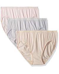 88f53c346af4 Lyst - Ellen Tracy 3 Pack Hi-cut Logo Micofiber Panties in White