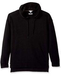 Calvin Klein - Long Sleeve Fabric Blocked Double Collar Crew Neck Hoodie - Lyst