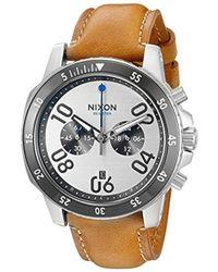 Nixon - A9402092-00 Ranger Chrono Leather Analog Display Quartz Brown Watch - Lyst