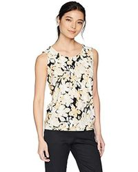 Kasper - Petite Floral Printed Pleat Neck Ity Cami - Lyst