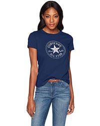 Converse - Foil Chuck Patch Short Sleeve Crew T-shirt - Lyst