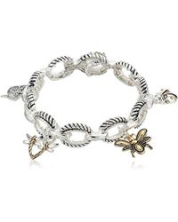 Napier - S Critter Charm Stretch Bracelet, Two-tone - Lyst