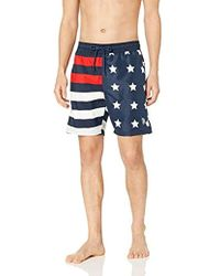 8390a127a808 Lyst - ASOS Swim Shorts with Australia Flag in Blue for Men