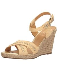 8ff5300ef4dd Lyst - Jack Rogers Lennon Wedge in Brown