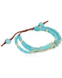 Tai - Multi-strand Agate Stone Bracelet - Lyst