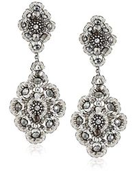 fe77cc0fa7f Miguel Ases - Pyrite Bead And Sterling Silver Medium Drop Earrings - Lyst