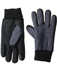 Levi's - Jersey Touchscreen Gloves With Stretch Fabric Grip, Navy Medium - Lyst