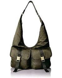 Steve Madden - , Cole, Women Satin Hobo With Functional Outside Pockets, Comfortable Shoulder Strap - Lyst