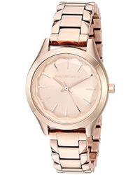 Karl Lagerfeld - Janelle Quartz Stainless Steel Watch, Color: Rose Gold-tone (model: Kl1615) - Lyst