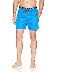 ce7fd4e802 BOSS Black Thornfish Swim Shorts for Men - Lyst