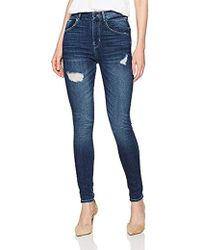 cce9bc7365838a Lyst - Guess Jeans Brittney Skinny Leg Silicone Black Wash in Black