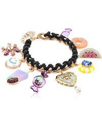 Betsey Johnson - Multi-candy Charm Bracelet - Lyst