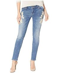 7d5a0f5535737 Lucky Brand - Mid Rise Lolita Skinny Jean With Embroidered Pockets In Avon  - Lyst