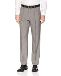 Franklin Tailored - Expandable Waist Classic-fit Pleated Dress Pants, -light Grey, 29w X 34l - Lyst