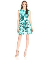 Calvin Klein - Sleeveless Fit And Flare Dress - Lyst