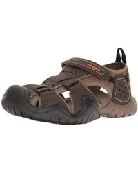 Crocs™ - Swiftwater Leather Fisherman Sandal - Lyst