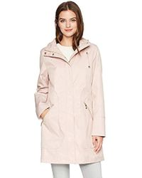 Ivanka Trump - Asymmetrical Side Zipper Raincoat - Lyst