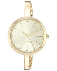 Nine West - Crystal Accented Bangle Watch - Lyst