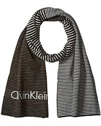 Calvin Klein - Ombre Logo Jacquard Muffler Scarf - Lyst