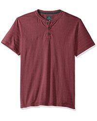 G.H.BASS - Jack Mountain Textured Jersey Short Sleeve Henley - Lyst