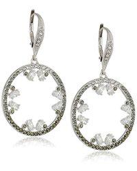 Judith Jack - Sterling Silver Cluster Convertible Pendant Drop Earrings - Lyst
