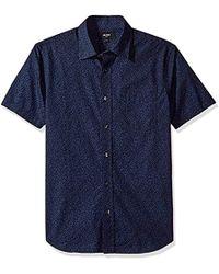 Jack Spade - Clift Short Sleeve Confetti Print Point Collar Shirt - Lyst