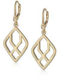 Ivanka Trump - Goldtone Geometric Open Drop Earrings - Lyst