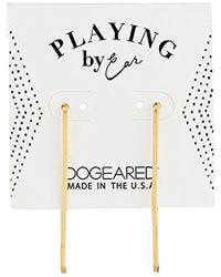 Dogeared - Pe Rectangular Earrings, Gold - Lyst