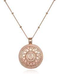 Satya Jewelry - Gold Hamsa Mandala Pendant Necklace (24-inch) - Lyst